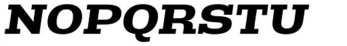Rude Slab ExtraWide Bold Italic Font UPPERCASE