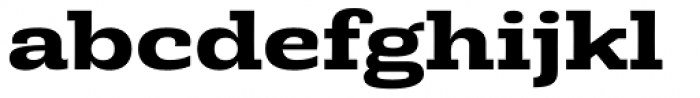 Rude Slab ExtraWide Bold Font LOWERCASE