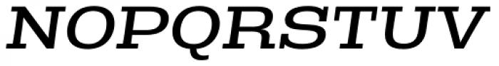 Rude Slab ExtraWide Book Italic Font UPPERCASE