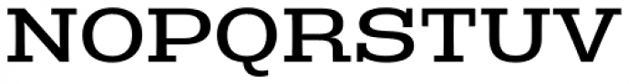Rude Slab ExtraWide Book Font UPPERCASE