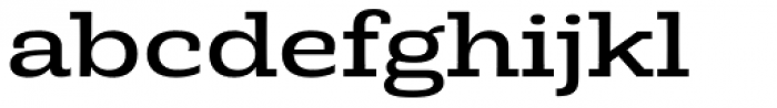 Rude Slab ExtraWide Book Font LOWERCASE
