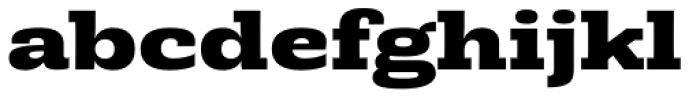 Rude Slab ExtraWide Extra Bold Font LOWERCASE