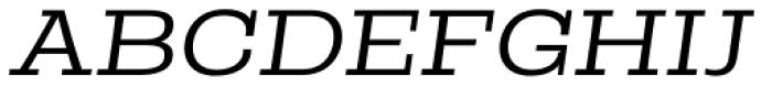 Rude Slab ExtraWide Light Italic Font UPPERCASE