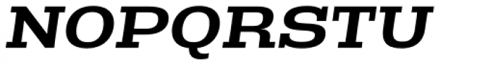 Rude Slab ExtraWide Medium Italic Font UPPERCASE