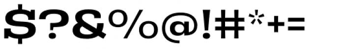 Rude Slab ExtraWide Medium Font OTHER CHARS