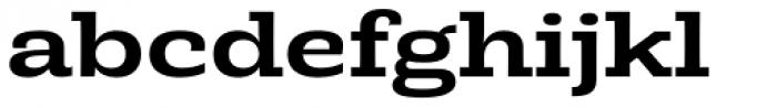 Rude Slab ExtraWide Medium Font LOWERCASE