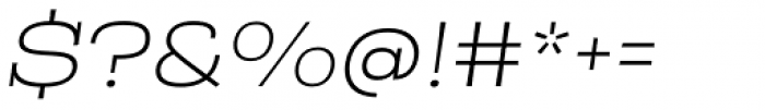 Rude Slab ExtraWide Thin Italic Font OTHER CHARS