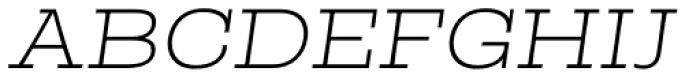 Rude Slab ExtraWide Thin Italic Font UPPERCASE