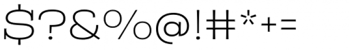 Rude Slab ExtraWide Thin Font OTHER CHARS