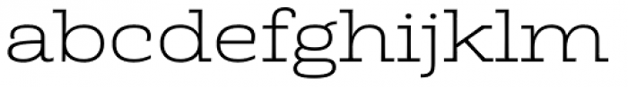 Rude Slab ExtraWide Thin Font LOWERCASE