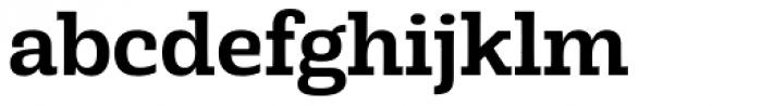 Rude Slab Medium Font LOWERCASE