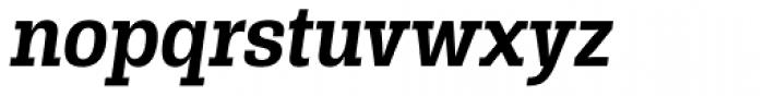 Rude Slab SemiCondensed Medium Italic Font LOWERCASE