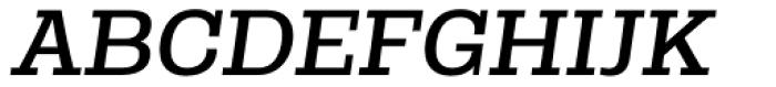 Rude Slab SemiWide Book Italic Font UPPERCASE