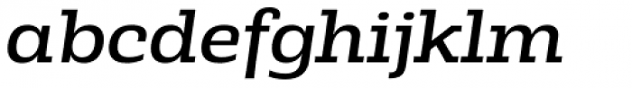 Rude Slab SemiWide Book Italic Font LOWERCASE