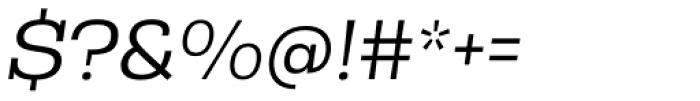 Rude Slab SemiWide Light Italic Font OTHER CHARS