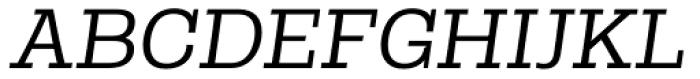 Rude Slab SemiWide Light Italic Font UPPERCASE