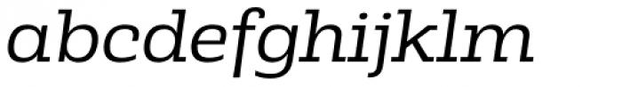 Rude Slab SemiWide Light Italic Font LOWERCASE