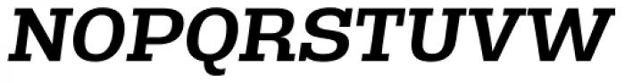 Rude Slab SemiWide Medium Italic Font UPPERCASE
