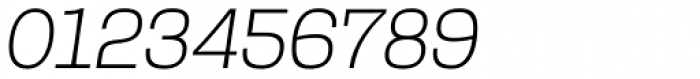 Rude Slab Thin Italic Font OTHER CHARS
