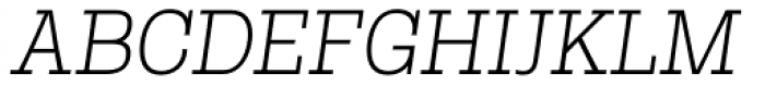 Rude Slab Thin Italic Font UPPERCASE