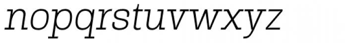 Rude Slab Thin Italic Font LOWERCASE
