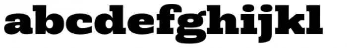 Rude Slab Wide Black Font LOWERCASE