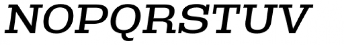 Rude Slab Wide Book Italic Font UPPERCASE