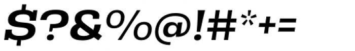 Rude Slab Wide Medium Italic Font OTHER CHARS