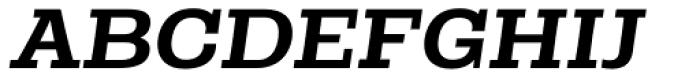 Rude Slab Wide Medium Italic Font UPPERCASE