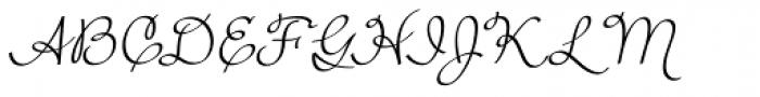 Rufus Script Regular Font UPPERCASE
