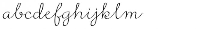 Rufus Script Regular Font LOWERCASE