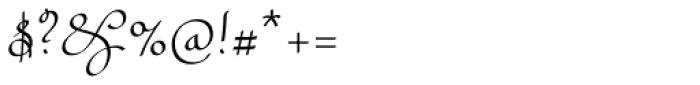 Rufus Script Semi Bold Font OTHER CHARS