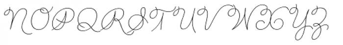 Rufus Script Thin Font UPPERCASE