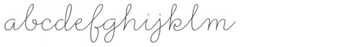 Rufus Script Thin Font LOWERCASE