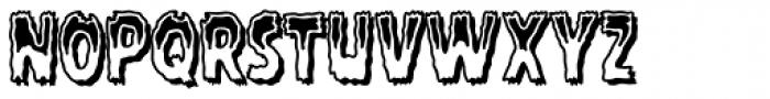 Rugged Rock Outline Font UPPERCASE