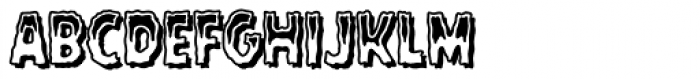 Rugged Rock Outline Font LOWERCASE