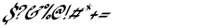 Ruhaniyat Italic Font OTHER CHARS