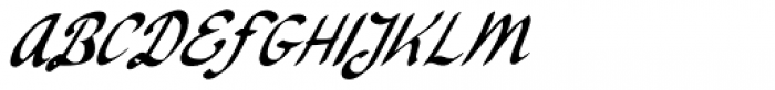 Ruhaniyat Italic Font UPPERCASE