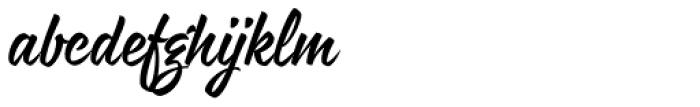 Rukola Regular Font LOWERCASE