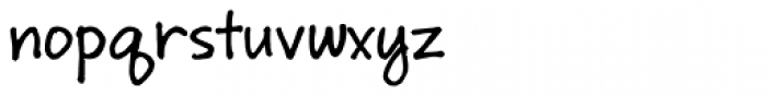 Ruly Font LOWERCASE