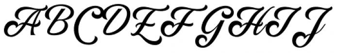 Rumble Brave Script Italic Font UPPERCASE