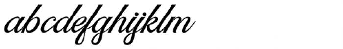 Rumble Brave Script Italic Font LOWERCASE