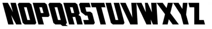 Rummy Tall Backslant Font UPPERCASE