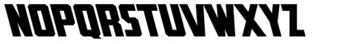 Rummy Tall Backslant Font LOWERCASE