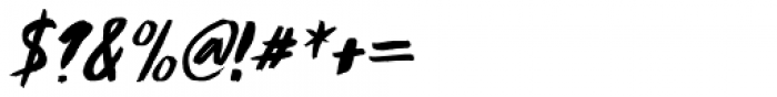 Runaround Kid Italic Font OTHER CHARS