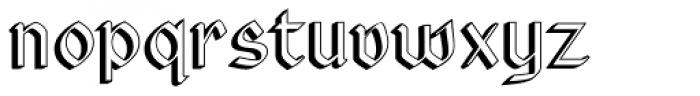 Rundigsburg Shadow Left Font LOWERCASE