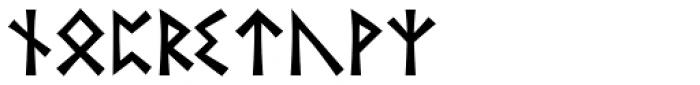 Runik Futhark Font LOWERCASE