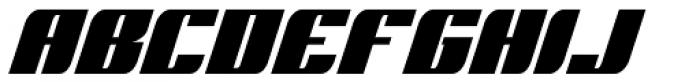 Runway Font UPPERCASE