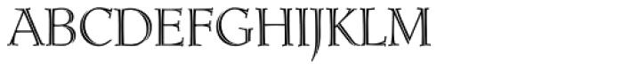 Ruse Monogram (1000 Impressions) Font LOWERCASE