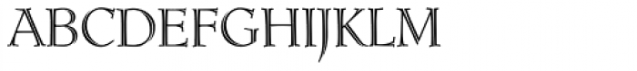 Ruse Monogram (250 Impressions) Font LOWERCASE